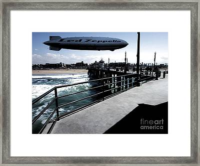 Led Zeppelin - The Beach Framed Print by RJ Aguilar