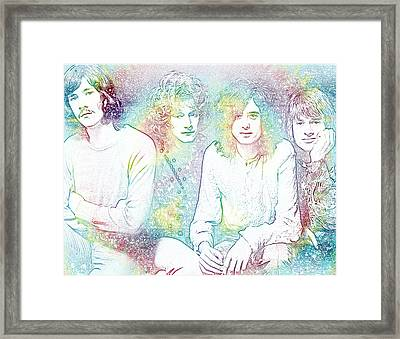 Led Zeppelin Tie Dye Framed Print by Dan Sproul