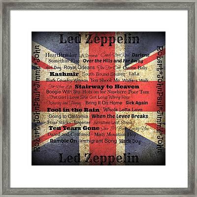 Led Zeppelin Framed Print by Treesha Duncan