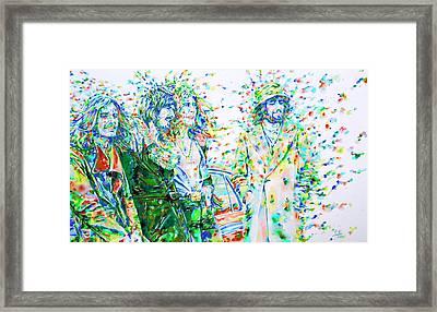 Led Zeppelin - Watercolor Portrait.2 Framed Print