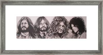 Led Zepplin Framed Print by Bruce McLachlan