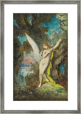 Leda And The Swan Framed Print by Gustave Moreau