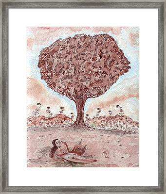 Leda And The Swan II Framed Print by Sue Wright