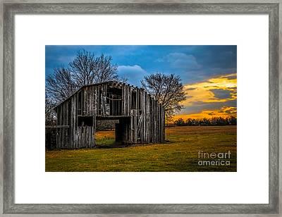 Leds Barn Framed Print