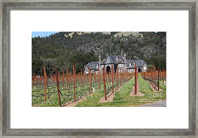 Ledson Winery And Vineyard In Late Winter Just Before The Bloom 5d22192 Framed Print by Wingsdomain Art and Photography