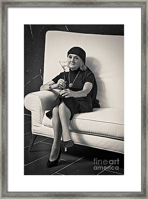 Framed Print featuring the pyrography Ledy by Evgeniy Lankin