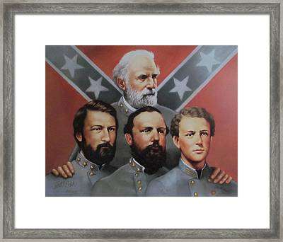 Lee And His Sons Framed Print by Janet McGrath