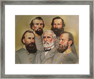 Lee And His Valiant Men Framed Print by Janet McGrath