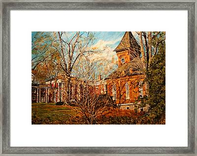 Lee Chapel From The Lower Walk Framed Print by Thomas Akers