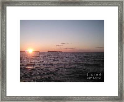 Leech Lake Sunset Framed Print