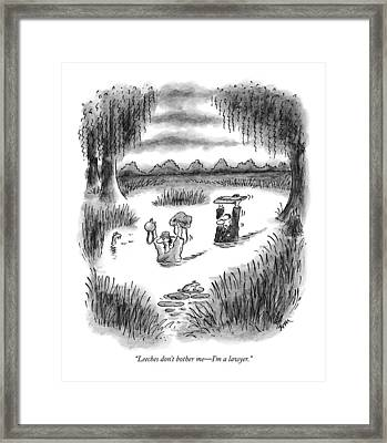 Leeches Don't Bother Me - I'm A Lawyer Framed Print by Frank Cotha