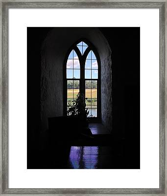 Leeds Castle Window Framed Print by Jan Cipolla