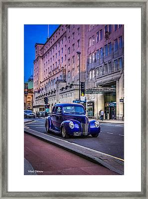 Leeds City Hot Rod Framed Print by Vlad Dimov