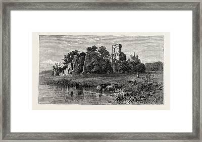 Leeds, Kirkstall Abbey Framed Print by English School