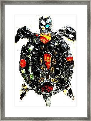 Leeky Turtle Framed Print by Lisa Brandel