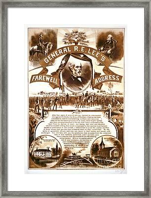 Lee's Farewell Address 1865 Framed Print by Padre Art