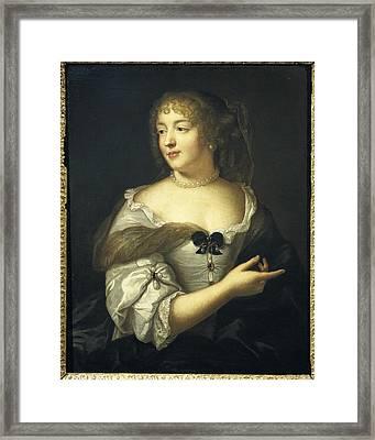Lefebvre, Claude 1632-1675. Marie De Framed Print by Everett