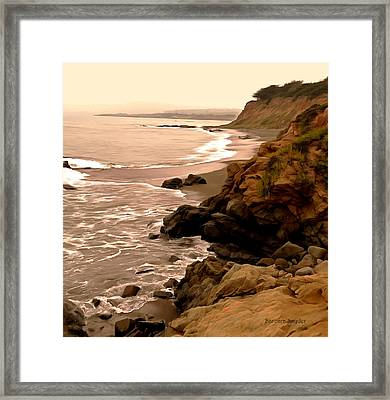 Leffingwell Landing Cambria Detail Framed Print by Barbara Snyder