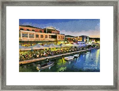 Lefkada Town During Dusk Time Framed Print by George Atsametakis