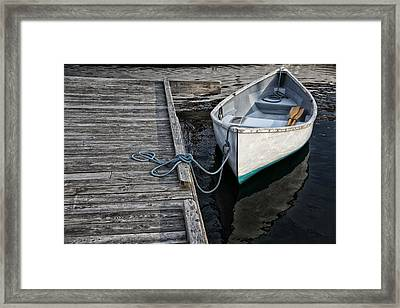 Left At The Dock Framed Print