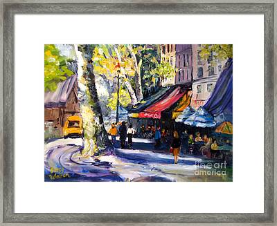 Left Bank Framed Print