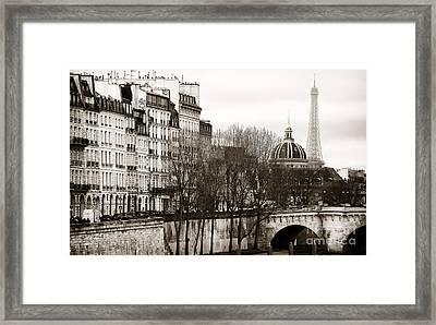 Left Bank View Framed Print by John Rizzuto
