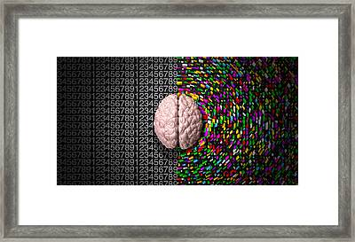 Left Brain Right Brain Framed Print by Allan Swart