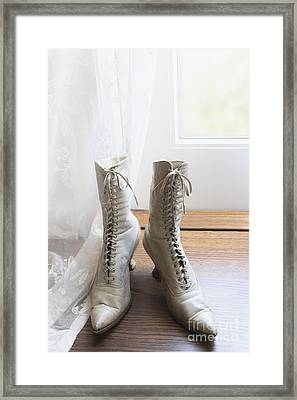 Left By The Door Framed Print by Margie Hurwich
