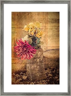 Left For A Loved One Framed Print