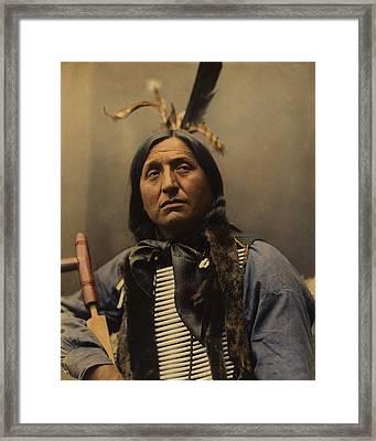 Left Hand Bear Oglala Sioux Chief Framed Print