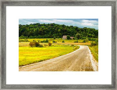 Left Hand Curve Framed Print by Deborah Benoit