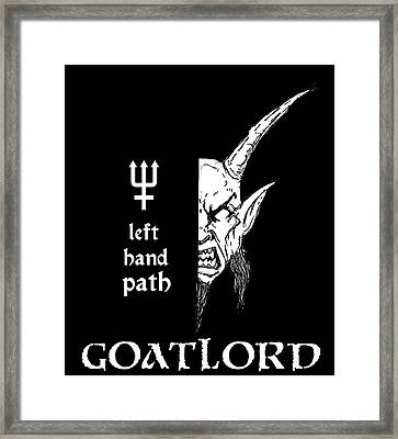 Left Hand Goatlord Framed Print by Alaric Barca