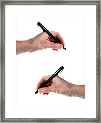 Left-handed And Right-handed Writing Framed Print