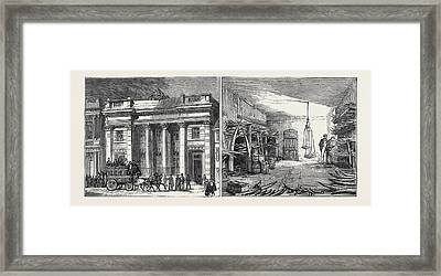 Left Image The Cutlers Hall Framed Print by English School