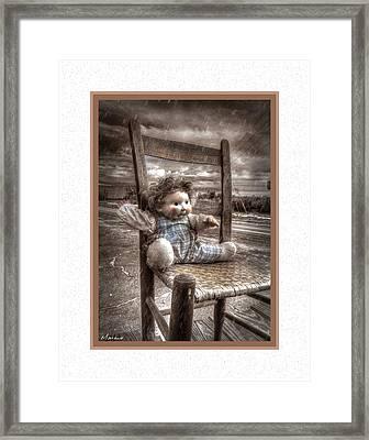 Left In The Rain Framed Print by Barry Monaco
