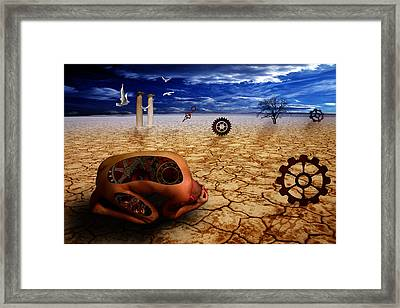 Left Me By Desert Framed Print
