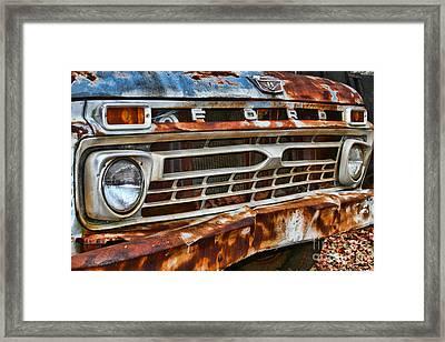 Left To Rust By Diana Sainz Framed Print