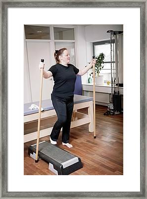 Leg Injury Physiotherapy Framed Print by Thomas Fredberg