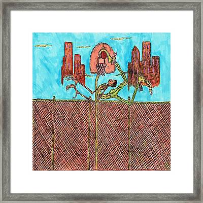 Leg Jam Framed Print by Richard Hockett