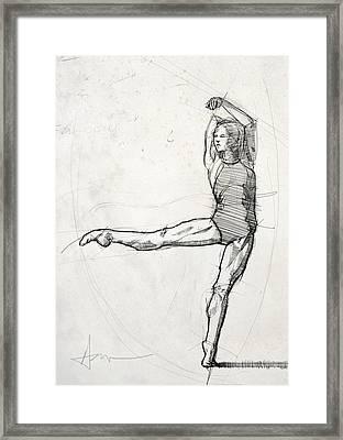 Leg Study Framed Print