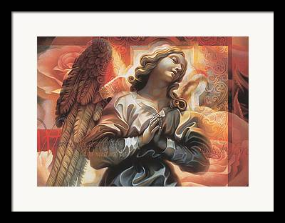 Catholic Mixed Media Framed Prints