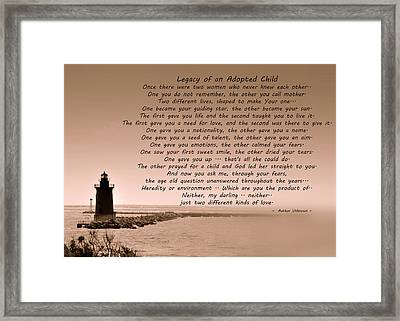 Legacy Of An Adopted Child Framed Print