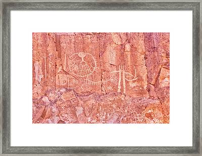 Petroglyphs Owens Valley California Framed Print by Ram Vasudev