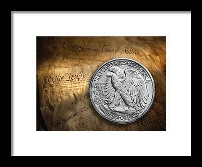 Coin Framed Prints