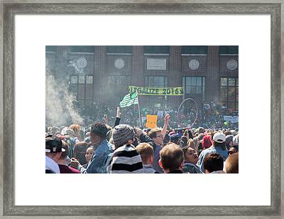 Legalisation Of Marijuana Framed Print
