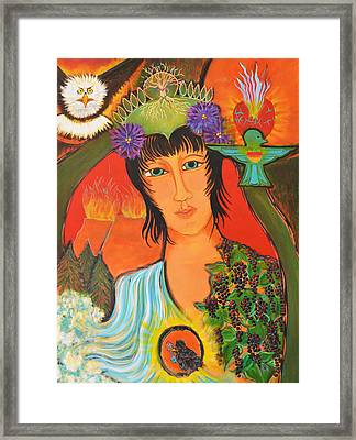 Legend Framed Print by Mary Ann Matthys