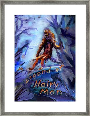 Legend Of Hairy Man Framed Print by Janet Oh