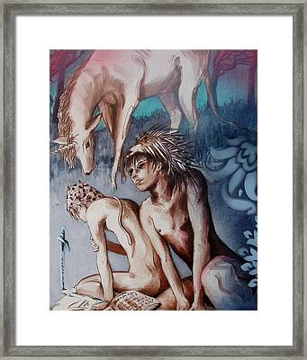 Legend Of Hedgehog Boy Framed Print