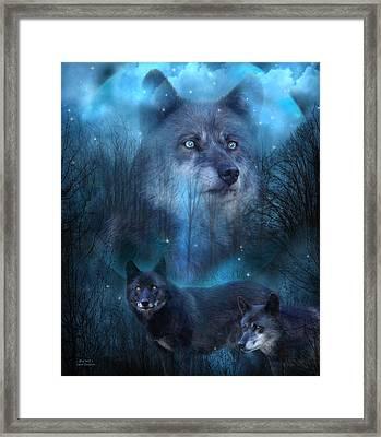 Legend Of The Blue Wolf Framed Print