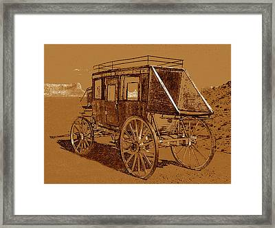 Legend Of The Old West Framed Print by David Lee Thompson
